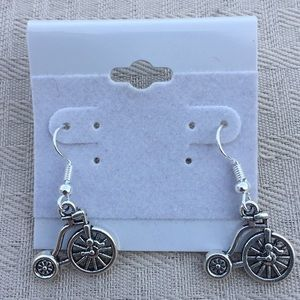 Jewelry - New Vintage Style Bicycle Earrings